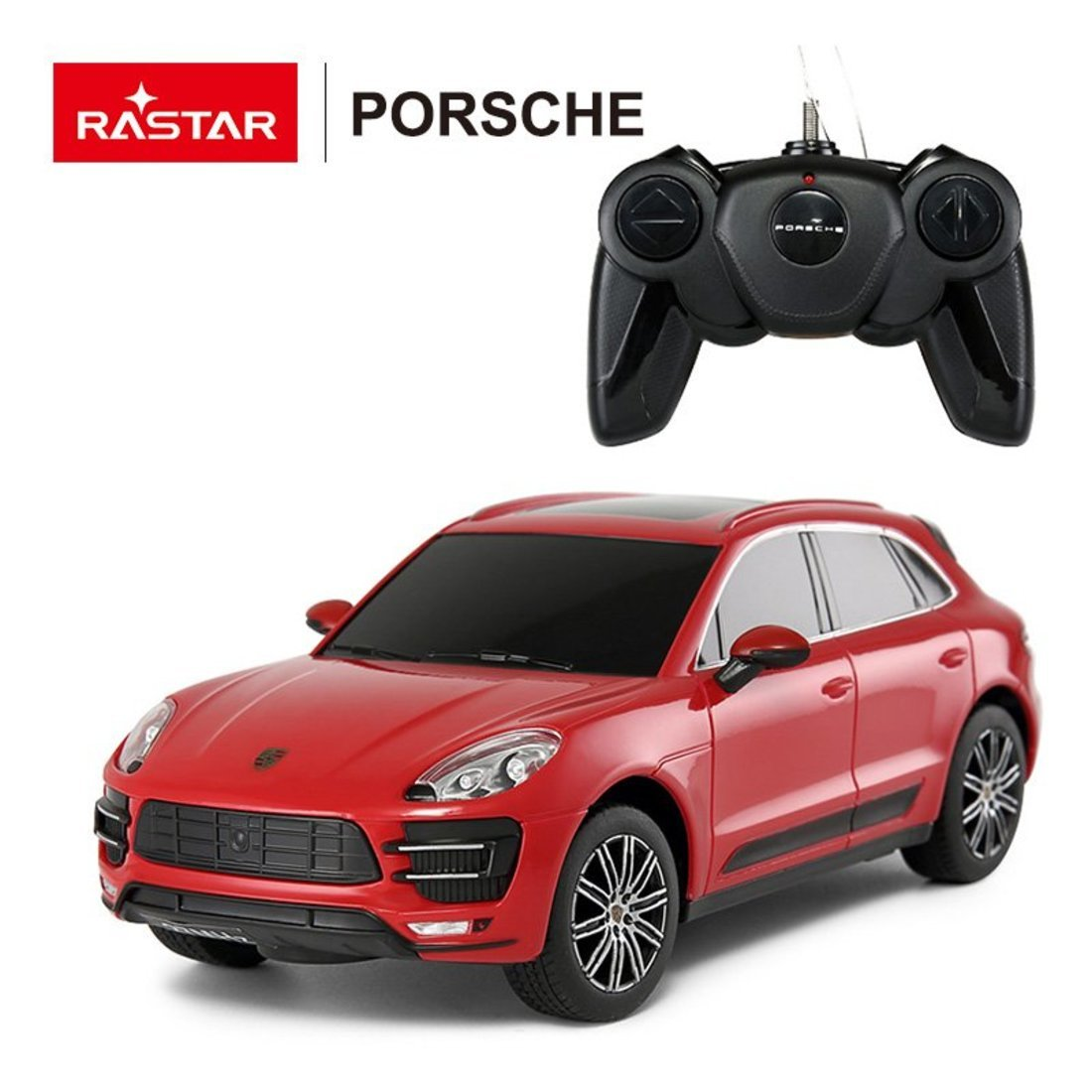 Машина р/у 1:24 Porsche Macan Turbo Цвет Красный