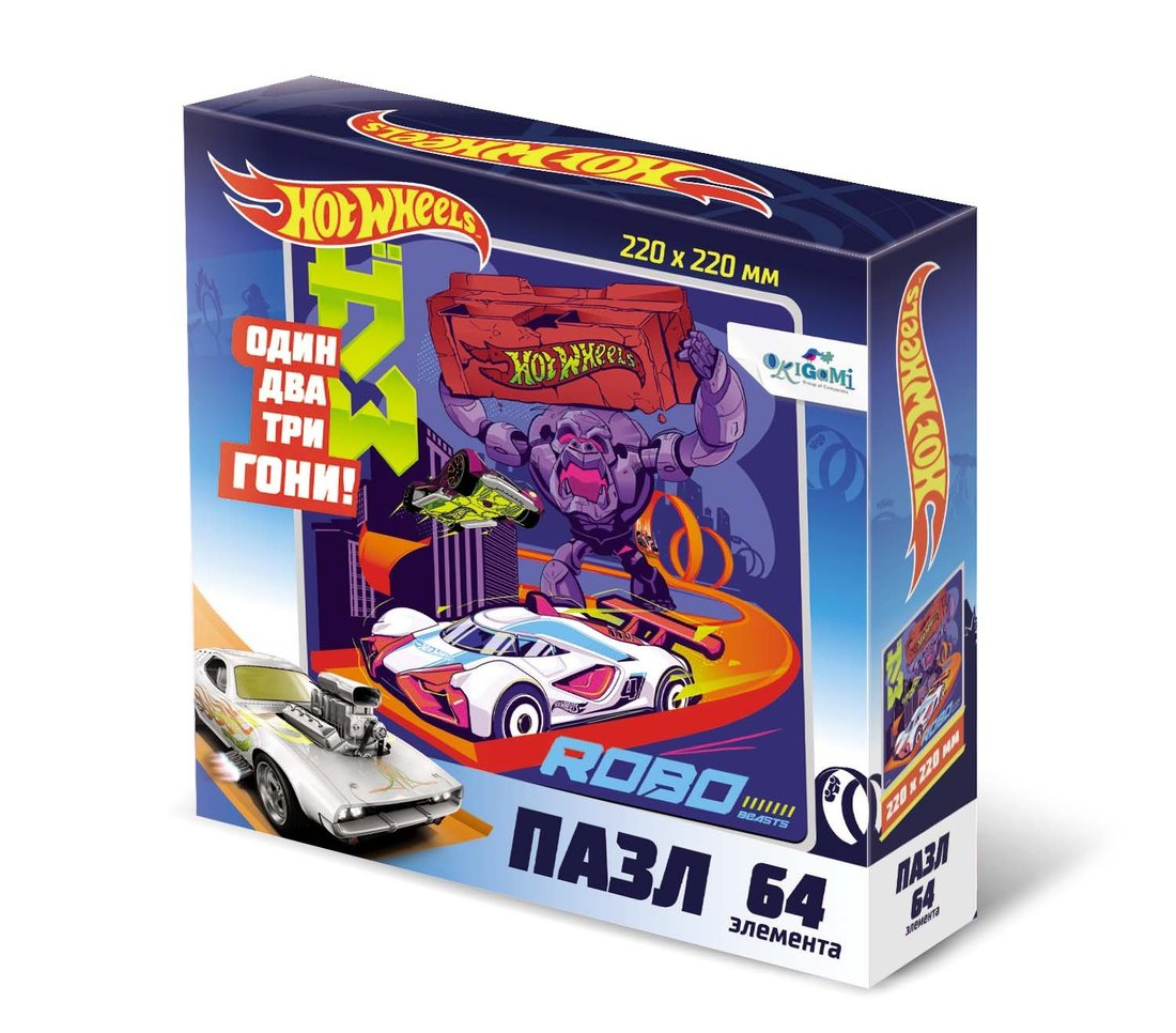 Пазл 64эл Hot Wheels Роботы