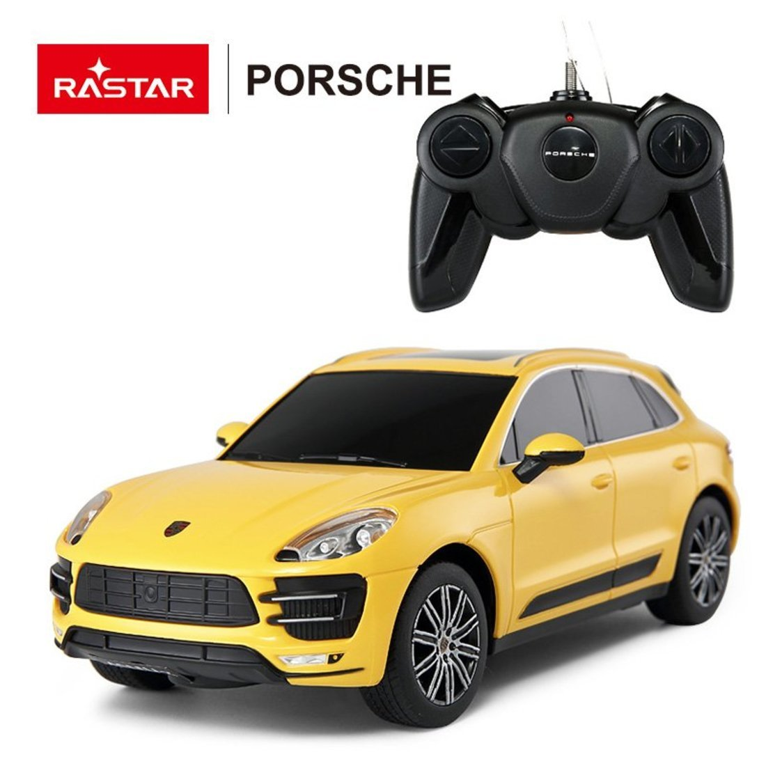 Машина р/у 1:24 Porsche Macan Turbo Цвет Желтый